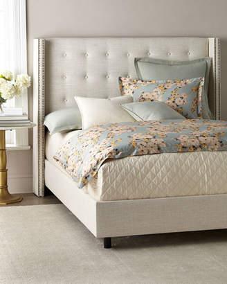 Lisabeth Full Tufted Wing-Back Bed