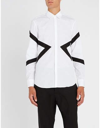 Neil Barrett Logo-print slim-fit cotton-poplin shirt