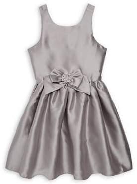Zunie Girl's Pleated Bow Dress