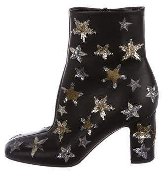 Valentino Leather Star Ankle Boots