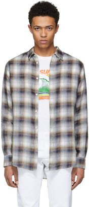 DSQUARED2 Brown Check Tab Shirt