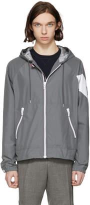 Moncler Gamme Bleu Grey Chevron Sleeve Zip Jacket