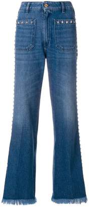 The Seafarer faded flared jeans