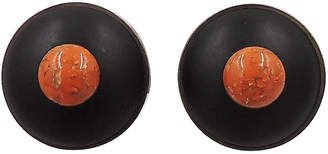 One Kings Lane Vintage 1980s Pellini Italy Cabochon Earrings - Carrie's Couture