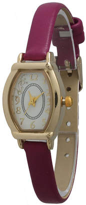 OLIVIA PRATT Olivia Pratt Womens Petite Purple Leather Watch 13420Purple