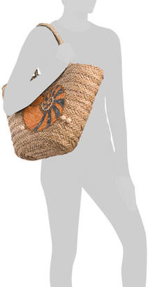 Handmade Large Tote With Sea Shell Design