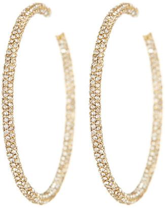 NADRI 18K Gold Jumbo Micropave Crystal Hoop Earrings $175 thestylecure.com