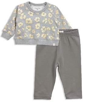 Sovereign Code Girls' Metallic Leopard-Print Sweatshirt & Leggings Set - Baby