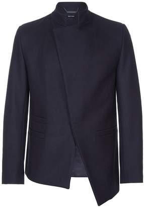 He & DeFeber - Dark Navy Asymmetrical Front Virgin Wool Jacket