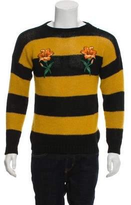 Gucci Alpaca Floral Appliqué Sweater