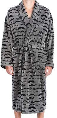 Majestic Wolfpack Barber Shop Terry Velour Shawl Robe