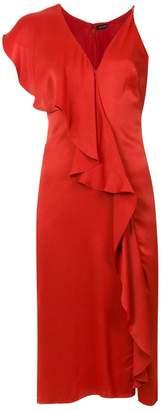 Tufi Duek asymmetric ruffled dress