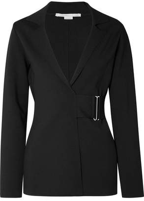 Stella McCartney Belted Stretch-ponte Blazer - Black