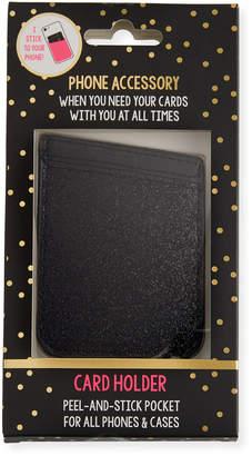 Tricoastal Design Tri Coastal Design Glitter Card Holder Phone Sticker, Black
