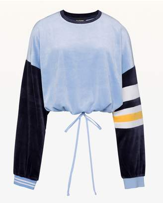 Juicy Couture Colorblock Lightweight Velour Crew Pullover