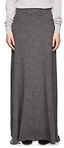 The Row Women's Oda Cashmere Maxi Skirt - Dark Grey Melange