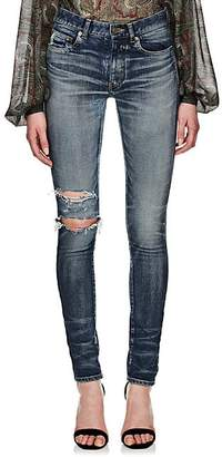 Saint Laurent WOMEN'S DISTRESSED SKINNY JEANS