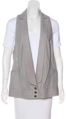 Diane von Furstenberg Longline Leather Vest