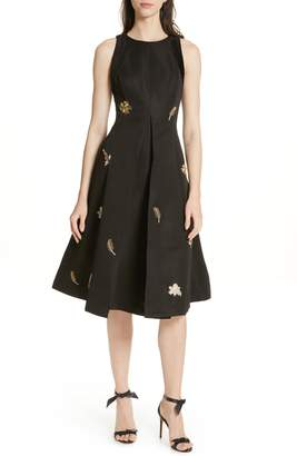 Ted Baker Flloraa Embellished Fit & Flare Dress