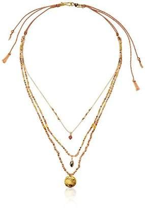 Chan Luu Triple Beaded Strand Necklace