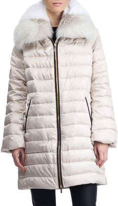 Gorski Apres-Ski Down-Fill Jacket with Fox Fur Collar