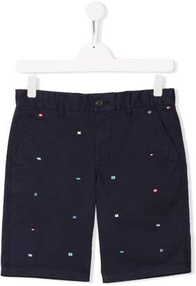 8bcb71196 Tommy Hilfiger Junior flag embroidered shorts