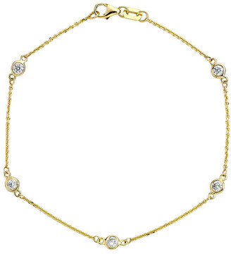 LeVian Suzy Diamonds Suzy 14K 0.25 Ct. Tw. Diamond Station Bracelet
