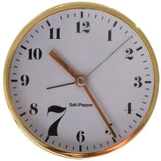 Salt&Pepper Gold Zone Round Desk Alarm Clock