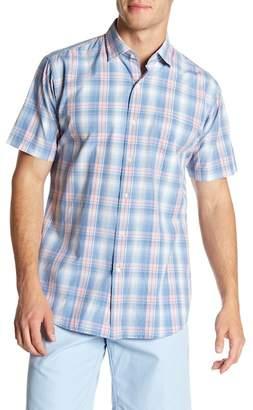 Peter Millar Short Sleeve Atlantic Plaid Print Regular Fit Shirt