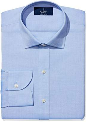 Buttoned Down Men's Slim Fit Spread-Collar Solid Non-Iron Dress Shirt (Pocket)