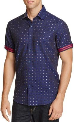 Robert Graham Modern Americana Drake Dot Slim Fit Button-Down Shirt $148 thestylecure.com