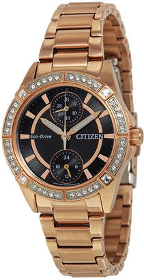 Citizen POV Eco-Drive Black Dial Ladies Watch
