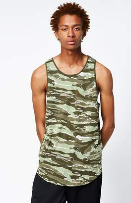 PacSun Dewey Camouflage Scallop Tank Top