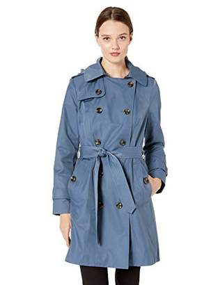 """London Fog Women's 36"""" Length Double-Breasted Trench Coat with Belt, Extra"""