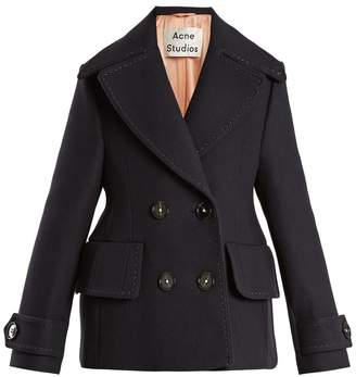ACNE STUDIOS Cheye T Melton double-breasted wool coat $900 thestylecure.com