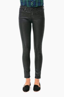 AG Jeans Super Black Leatherette Legging Ankle