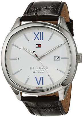 Tommy Hilfiger Unisex-Adult Analogue Classic Quartz Watch with Leather  Strap 1710364 b794541ef00