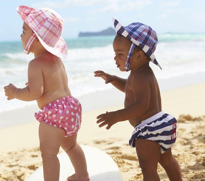 Pottery Barn Kids Diaper Cover & Reversible Sun Hat