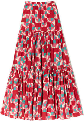 La Doublej La DoubleJ Big Tiered Printed Skirt