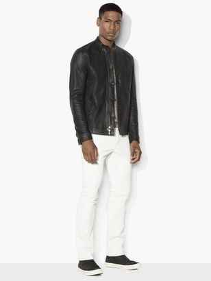 Black Leather Racer Jacket $798 thestylecure.com