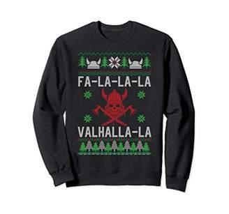 Ugly Christmas Sweater Funny Valhalla Viking T-Shirt