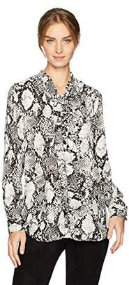 Jones New York Women's Drop Shoulder Blouse W/Self Tie