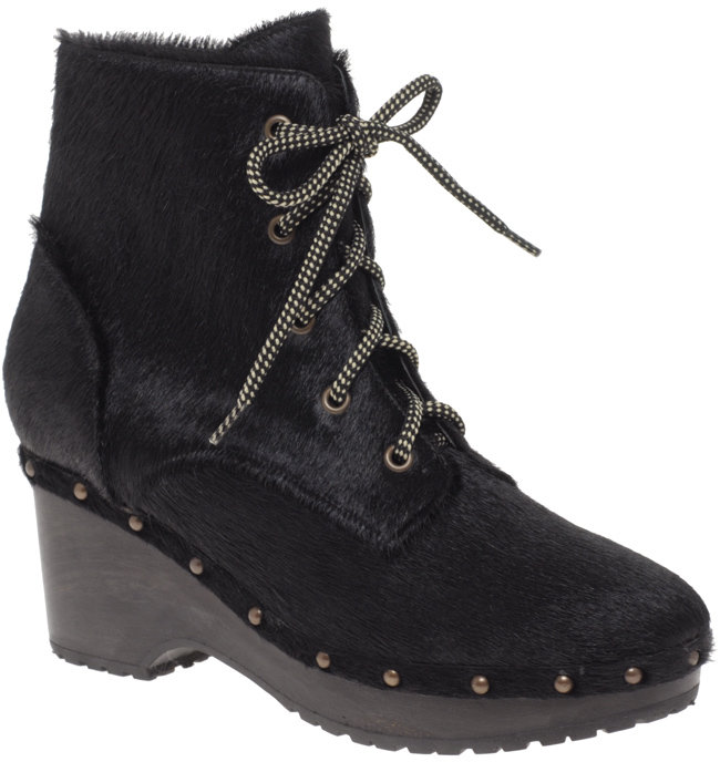 Opening Ceremony Pony Lace Up Clogg Ankle Boots