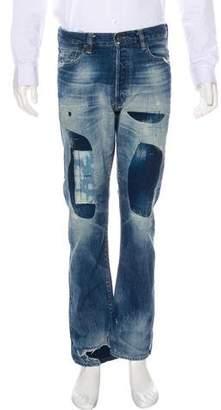 Simon Miller Sashiko Straight-Leg Jeans