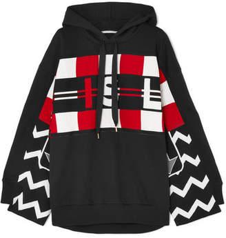 Stella McCartney Wool Intarsia And Cotton-jersey Hoodie - Black