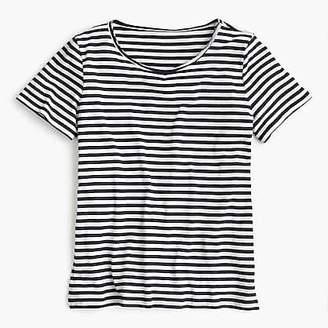 J.Crew Supersoft Supima® raw-edge T-shirt in stripes
