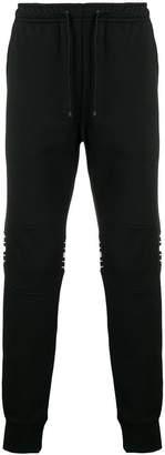 Fendi stripe patch jogging bottoms