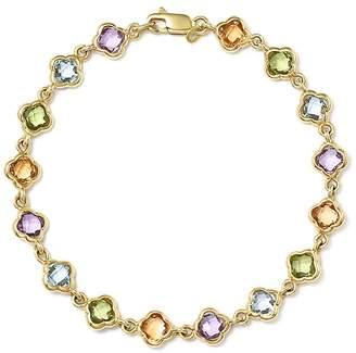 Bloomingdale's Multi Gemstone Clover Bracelet in 14K Yellow Gold - 100% Exclusive
