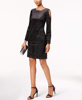 Jessica Howard Velvet Cold-Shoulder Dress