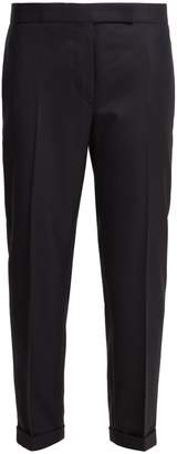 Thom Browne Mid-rise cropped wool-twill trousers
